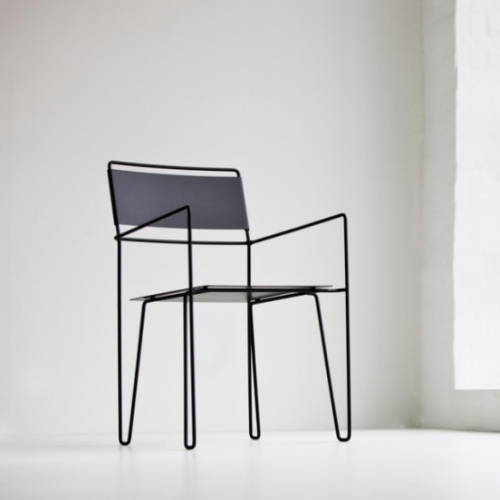 "Chair No 1 by Steel by Göhlin: ""It is a fantastic feeling. It started as a kitchen remodel, but now Pontus and I have designed and produced a whole new furniture collection"", said Catrine Göhlin."