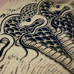 New Cobra Linocut from Danish artist Jacob Dahlstrup. Timelapse video of the process.