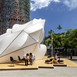 The making of Margen-Lab's Endesa World Fab Condenser: a parametric, digitally fabricated bio-climatic dome at the FAB10 Congress in Barcelona!