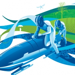Love the great illustrations of Vancouver 2010 campaign. Produced by Vanoc Canada.