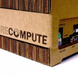 Loving this eco-friendly and durable cardboard computer case. It's a do-it-yourself kit which is built out of layers of cardboard.