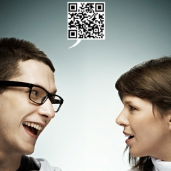 Great concept of campaign with QR code and iPhone application. By Leitmotiv and Piranha in Québec.