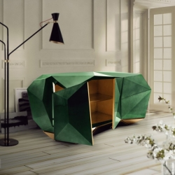 Cabinet DIAMOND Boca do Lobo in green emerald (Pantone color 2013)