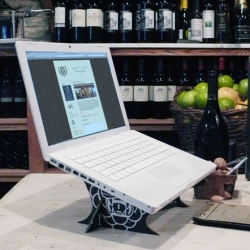 """Cardboard Laptop Cradle"" an amazing, simple, and eco-friendly idea for recycling wine boxes"