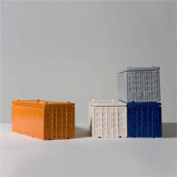 Several new projects from Daniel Ballou including these stackable ceramic Cargo Containers for Areaware.
