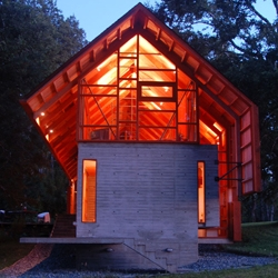 Wood  House design by Aguilo & Pedraza Architects in  Chilean South.