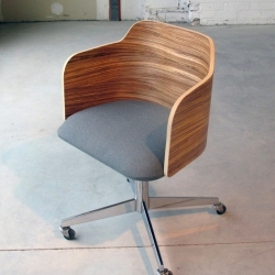 New Zebrano desk chair from Carnegie Mellon School of Design Senior Alex Fischer.