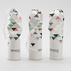 Devout Champagne - geometric packaging concept by Jessica Sjöstedt.