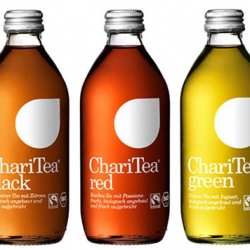 The charity drinks ChariTea and LemonAid, soon be launched all over Europe get a kick start with innovative & iconic design from BVD.