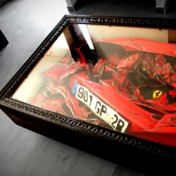 Just make a Crashed Ferrari Table when you crash a Ferrari next time.