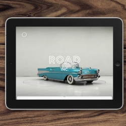 Road Inc. for iPad is a unique digital experience, designed like an imaginary interactive museum that plunges the user into the universe of automobiles that have created their own place in our collective imagination.