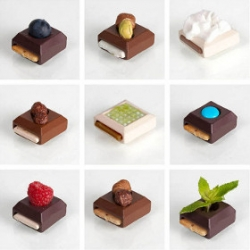 Sweet Play is a concept of modular chocolates designed by Elsa Lambinet.