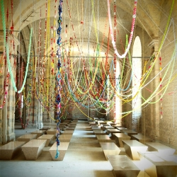 Korean artist Choi Jeong Hwa's most recent work is title Cosmos, and has been put on display at the Kyiv Biennale in the Ukraine.