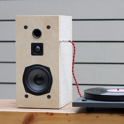 Daniel Ballou and dashdot turn your concrete blocks into HiFi speakers.