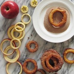 Fried Cinnamon Apple Rings, fun to make, fun to eat