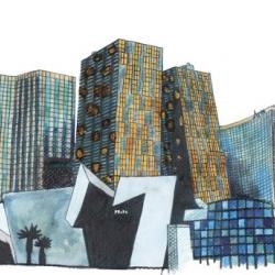Graphic work for Las Vegas's skyline CityCenter by Helmut Jahn