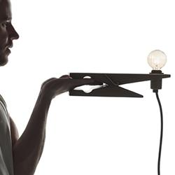ClampLamp, the creative lamp designed by Ola Giertz for Swedish lighting brand Oriva.
