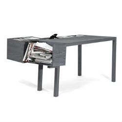 Clark is a compact desk from Llot llov with working area and an excellent solution for those who like to pile documents and papers.