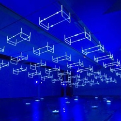 French artist Claude Lévêque creates dream-like light installations and neon sculptures, currently has a show at La Maison Rouge in Paris.
