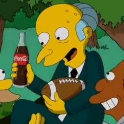 Under the new slogan Open Happiness, Coca-Cola Super Bowl Commercial Features Mr. Burns From The Simpsons.