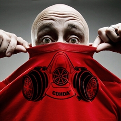 So it's a t-shirt, or is it a respirator? Is it functional? ...maybe, you decide! It certainly makes for a cool t-shirt. The designers at Cohda were inspired by seeing people in workshops substituting a t-shirt for a dust mask/respirator.