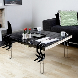 Cohda's new and improved Revive Table Legs are currently being shown at UK's leading retail show, Spring Fair International at the NEC Birmingham from Feb 6th–10th. Have a look and try them out in hall 9, stand A06.   The Revive Legs allow you to create a very durable ECO coffee table without the need for tools or skill. All you will require is a flat panel to attach them to. This could be literally anything you may have lying around!   The legs can be attached and removed within seconds and without the need for any expertise or tools, all that's required to attach the legs is squeezing on the legs handles and they'll clamp down firmly onto any surface, so all you need is one good arm to attach them. They can be removed just as easily with a simple release handle. The legs can be used to produce a limitless range of unique coffee tables, in various scale, depth and diameters.  With the addition of Revive Legs any flat surface can be revived into a uniquely individual coffee table.   The Revive Legs are manufactured and hand welded in the UK. They can be purchased directly from Cohda (www.cohda.com <http://www.cohda.com> ) in sets of Black or Orange here: http://www.cohda.com/?&mod=products&pageid=5&id=25 <http://www.cohda.com/?&amp;mod=products&amp;pageid=5&amp;id=25>    A Dining/Desk Table version is also available in Black or Orange here: http://www.cohda.com/?&mod=products&pageid=5&id=19 <http://www.cohda.com/?&amp;mod=products&amp;pageid=5&amp;id=19>