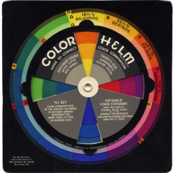 "1940's Color Helm based on Wilhelm Ostwald's Color System - ""Your answer to every color problem""!"