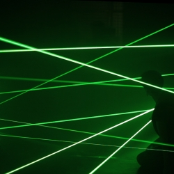 Yes, you might not be Catherine Zeta Jones but you can spy-walk-through-lasers. Istanbul based interaction company Nerdworking has made a real laser room an experience game!