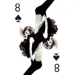 Glamorous fashion playing cards full of gothic queens and dangerous women by Connie Lim.