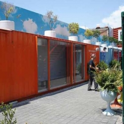 A city of made out of recycled shipping containers  sprang up about two hours outside of Mexico City. Along with residential apartments, the eco-friendly Container City houses restaurants, bars, shops, and art galleries.