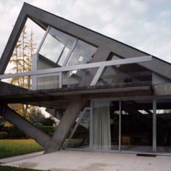 A very contemporary unique house design. The architects try to create a unique conceptual design. The house was originally called Villa Drusch, designed by Claude Parent and built in 1963.