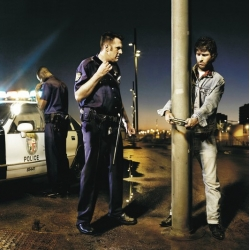 "Brilliant Sony PSP ad by TBWA, Madrid showing a criminal ""handcuffed"" to a lamp post by the portable video game."