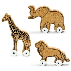 Great echo cork wheeled toys by BenBlancStudio for DCI.