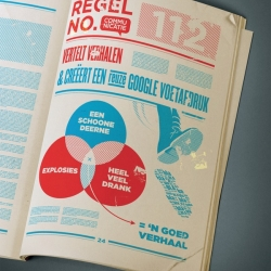 Dutch digital creative agency Momkai has created this Red Book inset for design magazine Creatie.