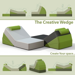 Brightside - This  customizable foam furniture is a simple concept that uses the wedge as a means of creating flexibility, promoting creativity in office spaces.