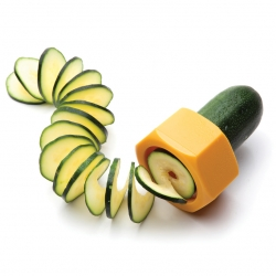 Cucumbo, a spiral slicer ideal for cucumbers and zucchini. Designed by Avichai Tadmor for Monkey Business.