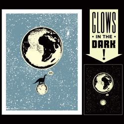 LUNASAURUS ~ awesome glow in the dark print by Aesthetic Apparatus