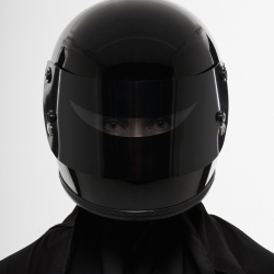 The helmet Niqab by Death Spray, stylish meets sinister meets futuristic meets traditional.