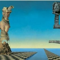 Salvador Dali and Walt Disney collaborated on a short animated cartoon called Destino which took 58 years to complete. Destino is currently part of an exhibit at the NYC MoMA called Dalí: Painting and Film