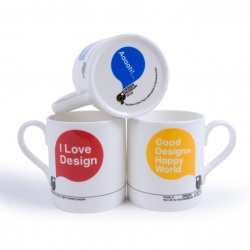 Super-nice new mugs designed by Build for the Design Museum Shop.