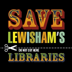 Identity for a campaign to save libraries that gathered a record 20,000 signatures, more than any other campaign in the Borough of Lewisham's history.