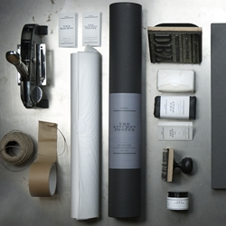 Lovely packaging program for DRY Things. DRY Things is created from a genuine interest in beautiful sustainable objects.