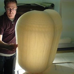 An insight into how Tom Seymour constructed his giant Honey Comb light for Tom Dixon.
