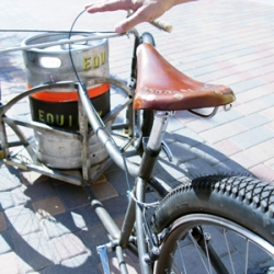 A custom-designed trike is the primary keg delivery vehicle for a Colorado micro-brewery called Equinox.