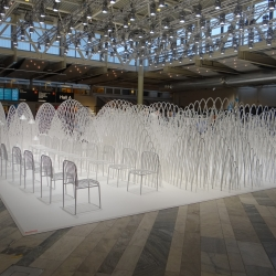 Installation by Oki Sato at Stockholm Furniture & Light Fair.