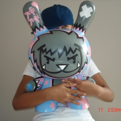 my 20inch custom dunny for miami kidrobot grand opening event:)