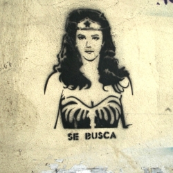 "Some original stencils from Montevideo, Uruguay.  Signed by the ""Old City Stencil"" group, they mix pop icons with short messages."