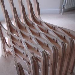 Scissor Chair by Phil Seaton is a beautiful example of where CNC furniture is going...