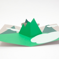'Mountains' Pop Up Card by Andrew Zo.