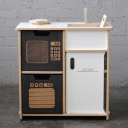Sprout Kid's Play Kitchen - Clark Davis designed furniture pieces that help kids to be an active part of the creation process. With tension lock furniture, children are able to help put it together themselves without any tools.